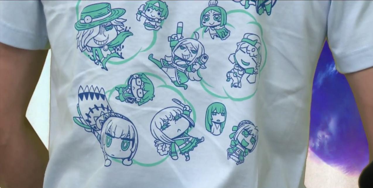 販売予定のTシャツ(背面)